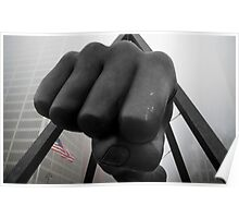 Joe Louis Detroit Fist in the Fog Poster