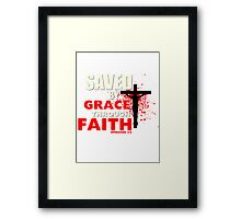 Saved by His Grace Framed Print