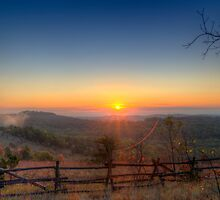 Sunrise on the Glade Top Trail by Jerry E Shelton