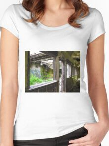 Doorway To Mother Nature  Women's Fitted Scoop T-Shirt