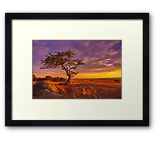 """Day's End At The Rocks"" Framed Print"