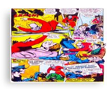 Comic cartoon Canvas Print