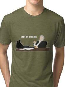Not My Division - DI Lestrade (white text) Tri-blend T-Shirt