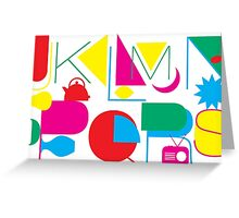J to S Letters Greeting Card