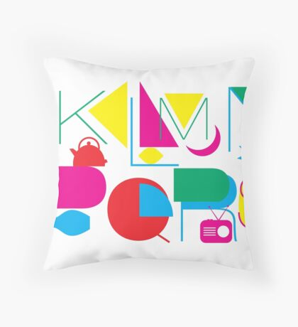 J to S Letters Throw Pillow