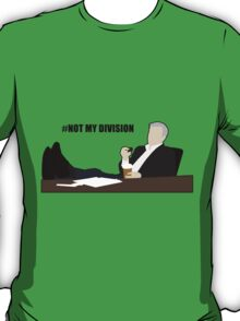 Not My Division - DI Lestrade (black text) T-Shirt