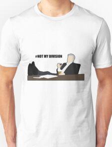 Not My Division - DI Lestrade (black text) T-Shirt