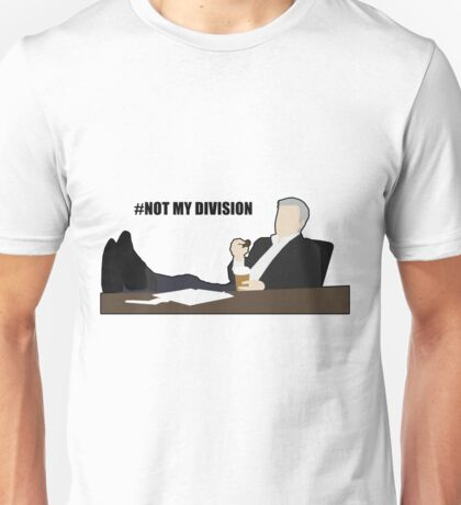Not My Division - DI Lestrade (black text) Unisex T-Shirt