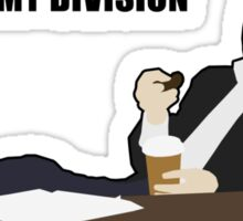 Not My Division - DI Lestrade (black text) Sticker
