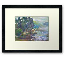 Swimming Clouds -  Winnererremy Bay, Mona Vale, Australia Framed Print