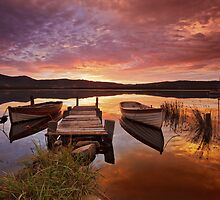 Row Boats, South Franklin, Tasmania by Chris Cobern