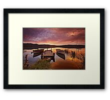 Row Boats, South Franklin, Tasmania Framed Print