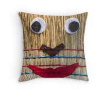 Stuffed man  with broom Throw Pillow