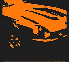 Datsun 240Z Detail - Orange on black by uncannydrive