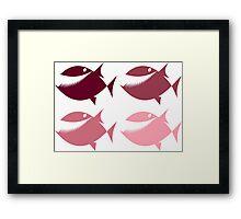 Pink Piranha Framed Print