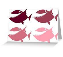 Pink Piranha Greeting Card