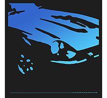 Datsun 240Z Detail - Blue on black Photographic Print