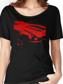 Datsun 240Z Detail - Red on black Women's Relaxed Fit T-Shirt