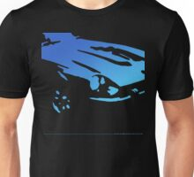 Datsun 240Z Detail - Blue on black Unisex T-Shirt