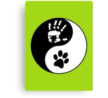 Dog Love - Ying & Yang Canvas Print