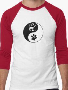 Dog Love - Ying & Yang Men's Baseball ¾ T-Shirt
