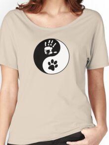 Dog Love - Ying & Yang Women's Relaxed Fit T-Shirt