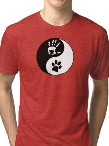 Dog Love - Ying & Yang Tri-blend T-Shirt