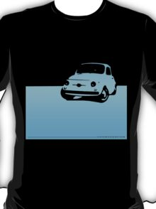 Fiat 500, 1959 - Light blue on black T-Shirt