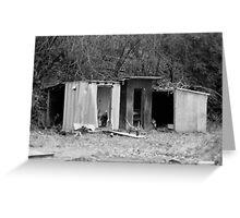 Abandoned Sheds Greeting Card