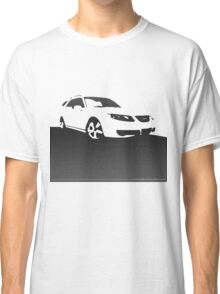 Saab 9-5, 2006 front - Black on cream Classic T-Shirt