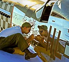 P-51 Mustang paint by Rod Reilly