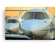 Hawker 800 jets at Sunrise Canvas Print
