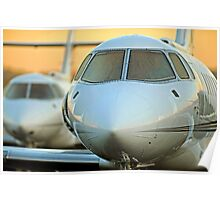 Hawker 800 jets at Sunrise Poster