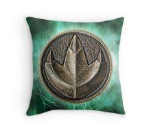 MMPR Green Ranger Power Coin Throw Pillow