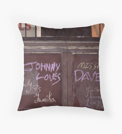 Johnny Misses Dave Throw Pillow