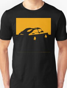 Saab 900, 1990 - Yellow on charcoal Unisex T-Shirt