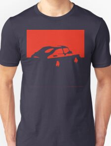 Saab 900, 1990 - Red on charcoal T-Shirt