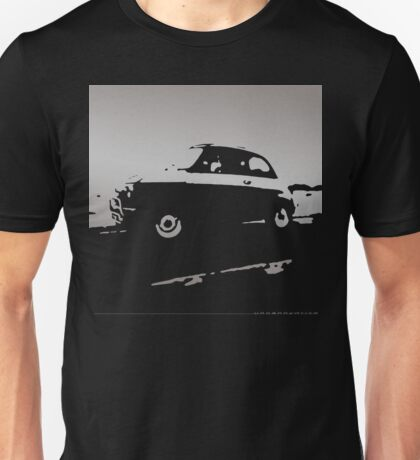Fiat 500, 1973 - Silver gray on charcoal Unisex T-Shirt
