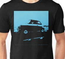 Fiat 500, 1973 - Light blue on charcoal Unisex T-Shirt