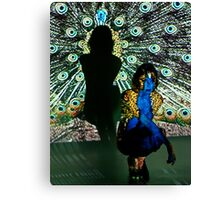 Peacock Projection Art Canvas Print