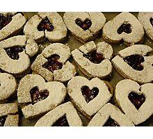 Broken Hearted Cookies Photographic Print