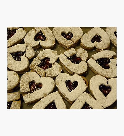 Broken Hearted Cookies Photographic Print