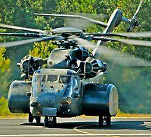 Big US NAVY chopper by Rod Reilly