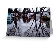 When The Passaic River Decides To Engulf The Neighborhood, Wayne NJ Greeting Card