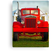 Old Big Red Truck Canvas Print