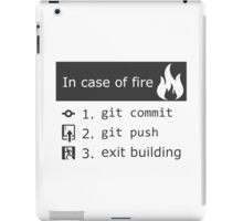 Git on fire iPad Case/Skin