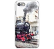 Steam locomotive in station iPhone Case/Skin