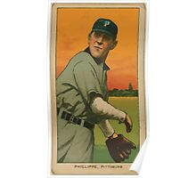 Benjamin K Edwards Collection Deacon Phillippe Pittsburgh Pirates baseball card portrait Poster
