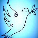 'Blue Peace Dove' by Shiloh Moore