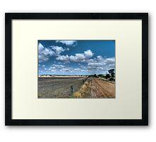 Wheatbelt landscape Framed Print